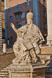 Statue ancient the Pope, Ancona, Italy Stock Image
