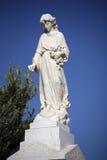 Statue angélique de cimetière Photographie stock