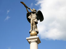 Statue of the angel. With the trumpet Royalty Free Stock Photography