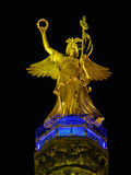 Statue of Angel. On Victory Column Siegessaeule in the night, Berlin (Germany Stock Photos