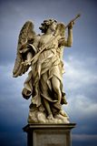 Statue of Angel. Bernini's marble statue of angel on the Sant'Angelo Bridge in Rome, Italy Royalty Free Stock Image