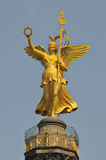 Statue of an angel. On the Siegessäule in Berlin Royalty Free Stock Images