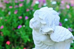 Statue angel ancient symbol old face Royalty Free Stock Photos