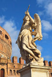 Statue of an angel on the bridge Sant`Angelo, Rome Royalty Free Stock Images