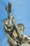 Statue of an angel at the Castel Santangelo in Rome, Italy Royalty Free Stock Image