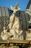 Statue of an angel on cathedral roof Royalty Free Stock Photo