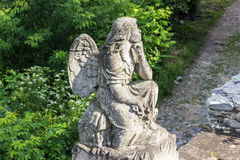 Statue of an angel. Cathedral of Saints Peter and Paul, Kamenetz Royalty Free Stock Photo