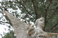 Statue of angel. Angel statue in front of Church in Kuna Pelješac Royalty Free Stock Image