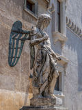 Statue of Angel inside the castle San Angelo Royalty Free Stock Photos