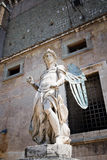 Statue of an angel inside Castle Sant'Angelo, Stock Photo