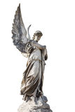 Statue of the angel Isolated on white Royalty Free Stock Images