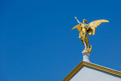 Statue of an angel made of stone Royalty Free Stock Photo