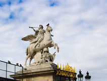 Statue of an angel, Paris. Beautiful statue of an angel on the horse, Paris Royalty Free Stock Image