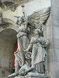 Statue of angel in Paris, France. View of a statue depicting an angel in Paris, France Royalty Free Stock Photography