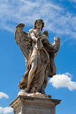Statue of angel on ponte San Angelo, Rome Stock Images