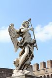 Statue of Angel on Ponte Sant'Angelo in Rome Royalty Free Stock Photo