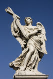 Statue of angel on Sant Angelo Bridge in Rome Royalty Free Stock Photo