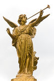 Statue of Angel and trumpet. Royalty Free Stock Images