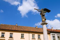 Statue of an angel at Uzupio in Vilnius, Lithuania Royalty Free Stock Image