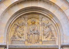 Statue of angels and maria Stock Photography