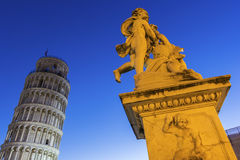 Statue of Angels near the Leaning Tower of Pisa in Italy. Statue of Three Angels near Leaning Tower of Pisa in Italy Royalty Free Stock Photo
