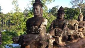 Statue in Angkor Wat Stockbilder