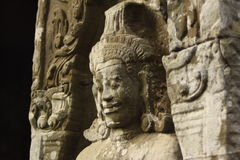 Statue at Angkor Wat in Cambodia Royalty Free Stock Images
