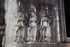 The statue of  Angkor Wat in the morning,Cambodia Royalty Free Stock Images
