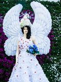 Statue angle at Chiangrai ASEAN Flowers Festival 2014. Stock Image