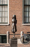 Statue of Anne Frank in Amsterdam Stock Photography