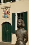 Statue of Anne Frank, Janskerkhof, Utrecht, the Netherlands Royalty Free Stock Photos