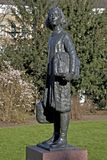 Statue of Anne Frank to Merwedplein. In Amsterdam, Netherlands Royalty Free Stock Photo