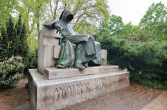 Statue of the Anonymous Author in Budapest Stock Photos