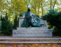 Statue of Anonymus in Budapest Royalty Free Stock Photography