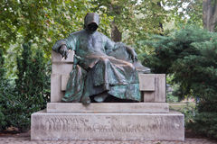Statue of Anonymous, Vajdahunyad Castle, Budapest Stock Photo