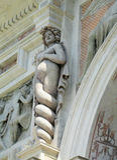Statue antique d'Este de villa de meduza Photo stock