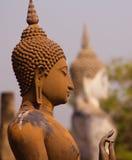 Statue antique de Bouddha au parc historique de Sukhothai, Thaïlande photographie stock libre de droits