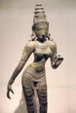 Statue antique de bronze d'Inde photographie stock libre de droits
