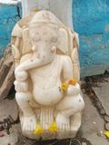 Statue antique de Ganesha photographie stock libre de droits