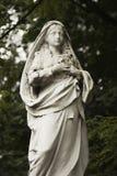 Statue antique de la religion de prière de Vierge Marie, foi, sainte image libre de droits