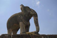 Statue antique de temple d'éléphant Image libre de droits