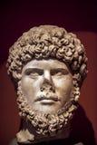 Statue antique de visage de marbre d'âge Image libre de droits