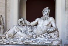 Statue antique de Zeus dans le musée de Vatican le 24 mai 2011 à Vatican, Rome, Italie Photos stock
