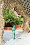 A statue of Antoni Gaudi, a famous catalan architect Royalty Free Stock Photos