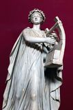 Statue of Apollo. Apollo wearing a wreath of laurel and strumming a lyre Royalty Free Stock Image