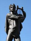 Statue of apollo. On the blue sky royalty free stock image