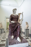 Statue Apollo with his Lyre in Naples National Archaeological Mu Royalty Free Stock Photography