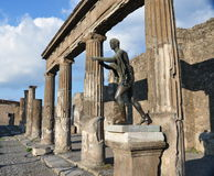 Statue of Apollo in Pompeii Stock Images