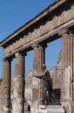 The statue of Apollo in Pompeii Royalty Free Stock Photography