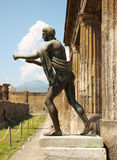 Statue Of Apollo In The Ruins Of Pompei Stock Photography